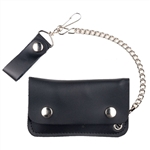 Kids Leather Chain Wallets: Biker Style