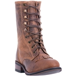 Laredo Women's Brown Leather Combat Boots