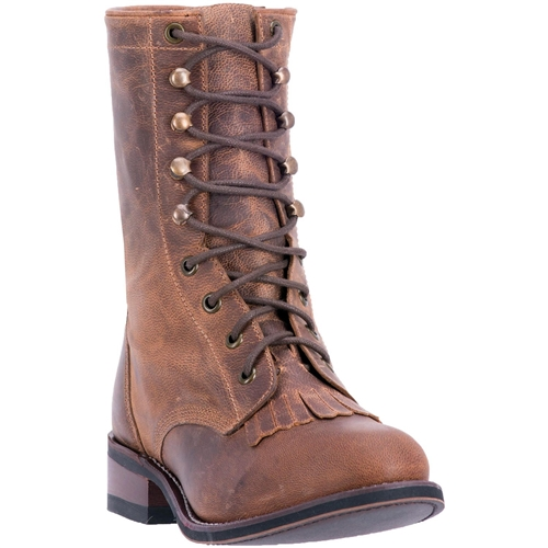 f3211b44a29d Laredo Women s Brown Leather Combat Boots
