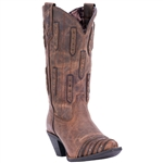 Laredo Ladies Leather Western Boots: Whiskey Sour