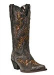 Women's Laredo Leopard Inlay Cowgirl Boots