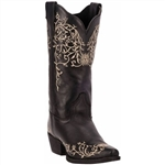 Women's Laredo Western Boots - Jasmine Embroidered Black Leather