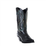 Women's Laredo Western Boot - Black Leather Snipe Toe