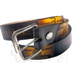 Don't Tread On Me Genuine Leather Belt, Embossed Cowhide
