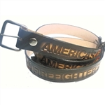Embossed Genuine Leather America's Fire Fighter Belt
