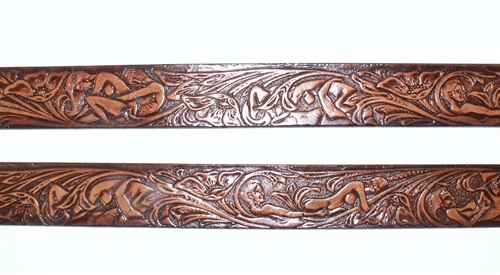 Brown Genuine Leather Belts Adult X Rated Design Usa Made