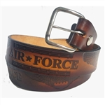 Genuine Solid Leather US Air Force Print Belt