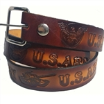 Genuine Custom Leather Army Print Belts