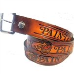 Genuine Solid Leather Painter Print Belt: Artist Gift