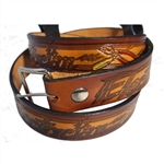 Men's Leather Electrician Print Belt: Gift Idea