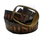 Genuine Solid Leather US Marines Print Belt