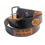 American Biker Leather Biker Belt