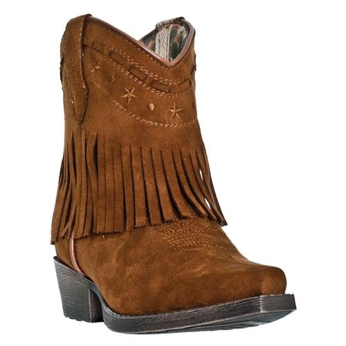 Laredo Girls Fringe Western Boots Gingersnap Leather