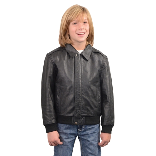 ce1ff263277f Kids Leather Bomber Jacket (Milwaukee Leather)