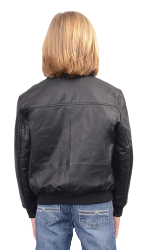 Kids Leather Bomber Jacket (Milwaukee Leather)