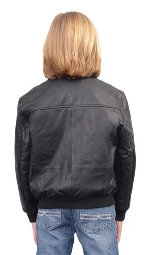 dbbe08e82705 Kids Leather Bomber Jacket (Milwaukee Leather)