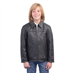 Kids Leather JD Zipper Jacket