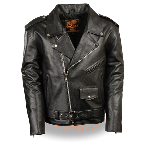 Youth Motorcycle Jacket Teen Boys Classic Leather Biker Style