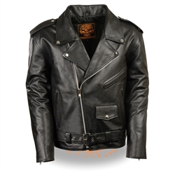 Youth Leather Motorcycle Jacket: Biker Style