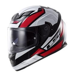 LS2 Stream Omega Red Full Face Motorcycle Helmet