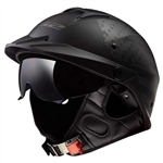 LS2 Rebellion Motorcycle Half Helmet: Sun-shield 1812