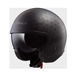 LS2 Spit Fire Motorcycle Helmet: Black Flag