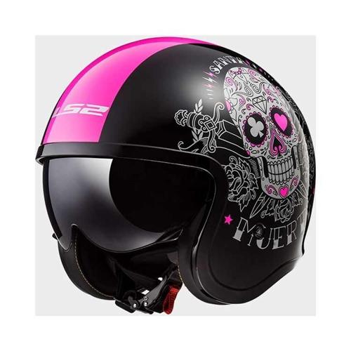 Ladies Motorcycle Helmets Spit Fire Muerte Skull