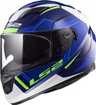 LS2 Blue Full Face Motorcycle Helmet