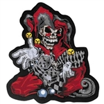 Biker Patches Skull Jester Dice