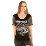 Women's Liberty Wear T-Shirts: Vintage Ride Free Bling