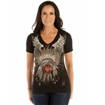 Women's Liberty Wear T-Shirts: Heart Headdress