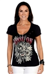 Women's Biker T-Shirts:  Ride On Bling