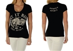 Women's Biker T-Shirt: Ride Motorcycle