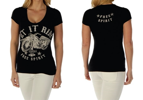 e8eee0fc17c17a Women s Biker Clothing - Ride Motorcycle T-Shirts - Leather Bound Online