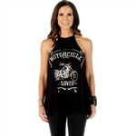 Motorcycle Club Lover Halter Top, Liberty Wear