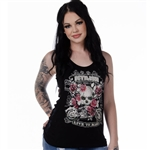 Devilish Bling Lace-Back Tank Top, Liberty Wear 7573