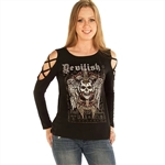 Women's Liberty Wear T-Shirts: Devilish Raven