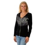 American Made Ladies Biker Hoodie