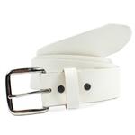 Genuine Leather Belts: White Leather