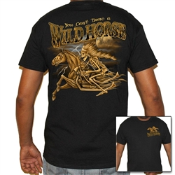 Men's Biker T-Shirts: Wild Horse Skeleton
