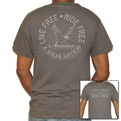 Men's Biker Nation T-Shirts: Live Free - Ride Free