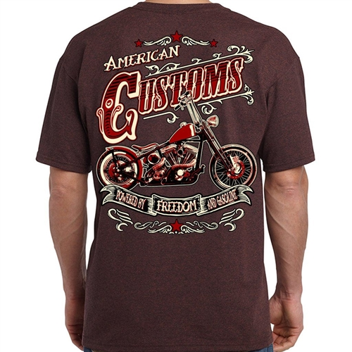 Biker Shirt 9 99 American Customs Motorcycle Bobber