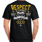 Mens Biker T-Shirts: Respect is Earned, Loyalty Returned
