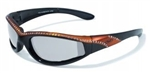 Transitional Women's Motorcycle Glasses: Orange