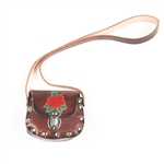 Biker Little Girls Brown Leather Purse