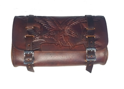 Antique Leather Brown Motorcycle Tool Bag