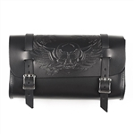 Skull Leather Black Motorcycle Tool Bags