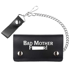 6'' Leather Chain Wallets With Bad Mother Fucker