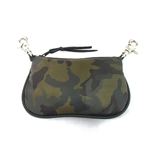 Camo Print Leather Hip Purse: USA Made