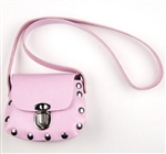 Biker Little Girls Pink Leather Purse